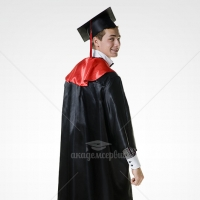 Satin gown for master graduates