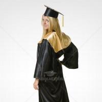 Атласная мантия выпускника бакалавра/специалиста