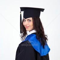 Мантии для выпускного с синим воротом
