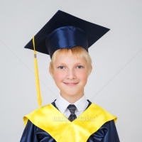 Темно-синяя мантия для ребенка