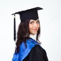 Мантії з синім коміром для випускників